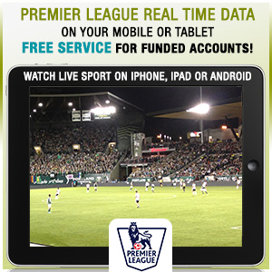 Premier League Real Time Data, Sports Live Streaming on mobile devices